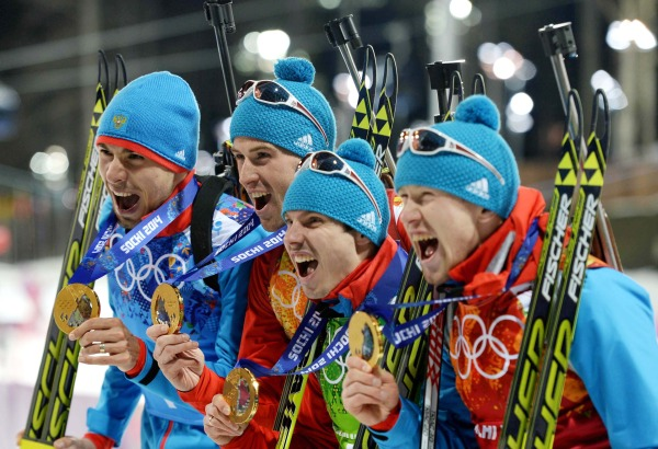 (SP)OLY-RUSSIA-SOCHI-BIATHLON-MEN'S RELAY 4x7.5KM
