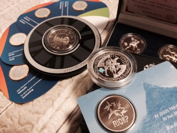 moedas olímpicas